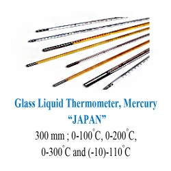 Glass Liquid Thermometer, Mercury 0