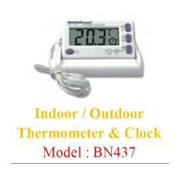 Indoor / Outdoor Thermometer & Clock 0